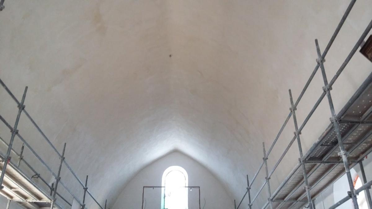 Restauration de l'église Saint Pierre : voûte finie