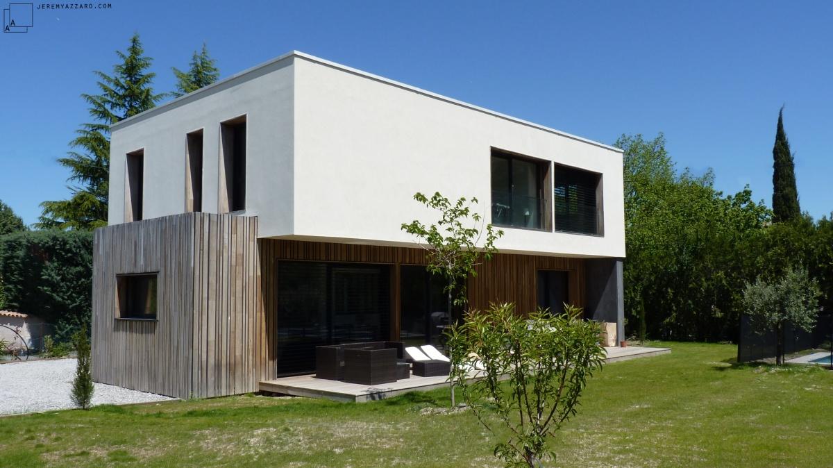 Conception d'une maison contemporaine « à travers champs » : maison-popup-house-passive-jeremy-azzaro-architecte-min