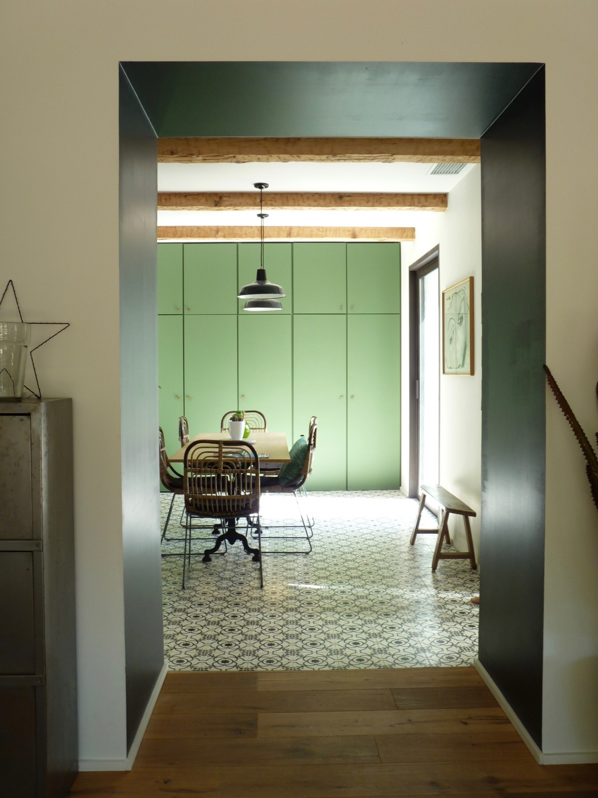 Transformation « deux maisons en une » : cuisine-repas-deco-architecture-design-azzaro-architecte