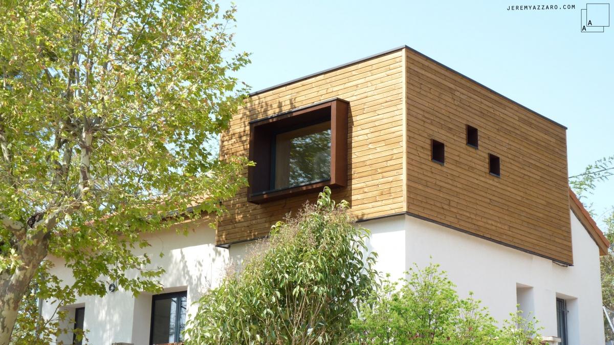 Surélévation Rénovation « la cabane sur le toit » : surelevation-ossature-bois-contemporaine-azzaro-architece-marseille