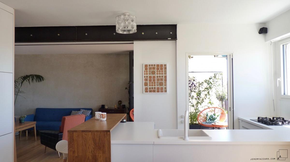 Transformation d'un appartement « la belle vue » : beton-poutre-acier-annee70-appartement-architecte-transformation-renovation-jeremy-azzaro-min-min