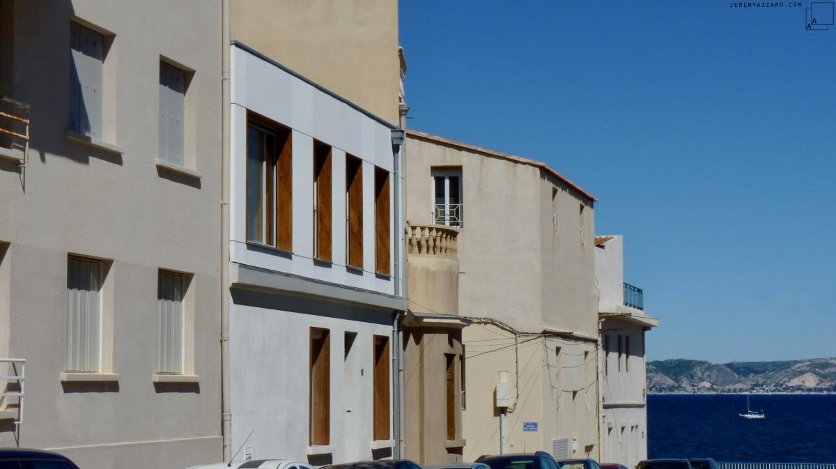 Surélévation d'une maison de ville « les trois trios »