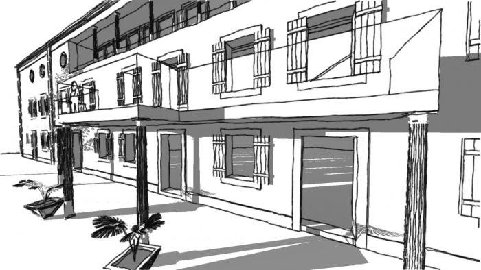 Rénovation bâtiment dans l'Aude : Esperaza elegant balkon