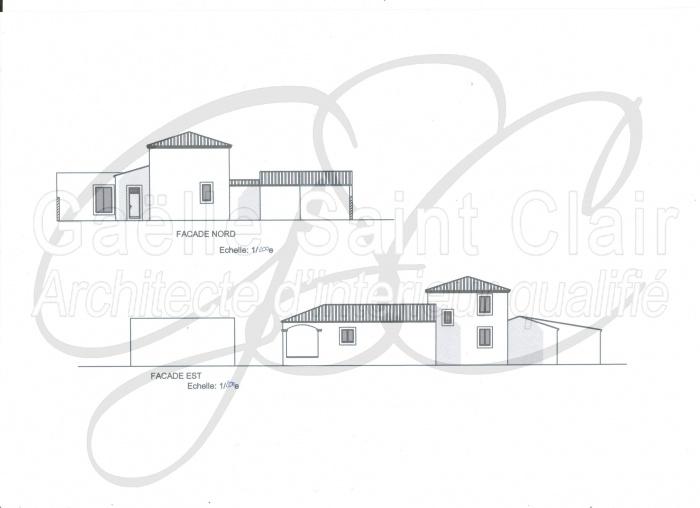 Construction d'une dépendance et d'une piscine avec paysaisme et extension de la villa : Façade 2