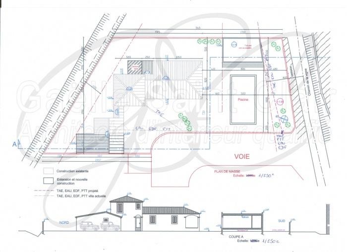 Construction d'une dépendance et d'une piscine avec paysaisme et extension de la villa