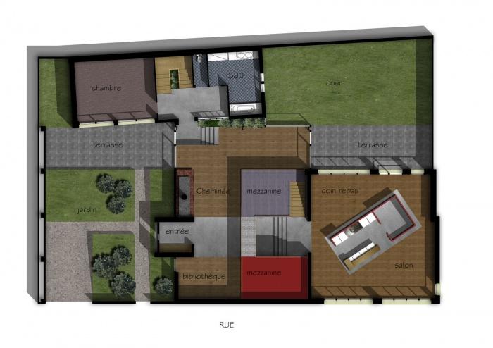 Loft dans un bâtiment existant : planfin2