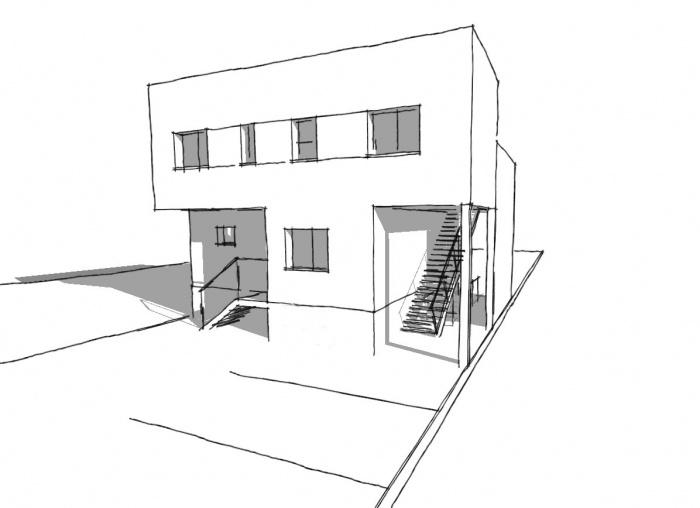 2 logements bâtiment contemporain : Bruneau2