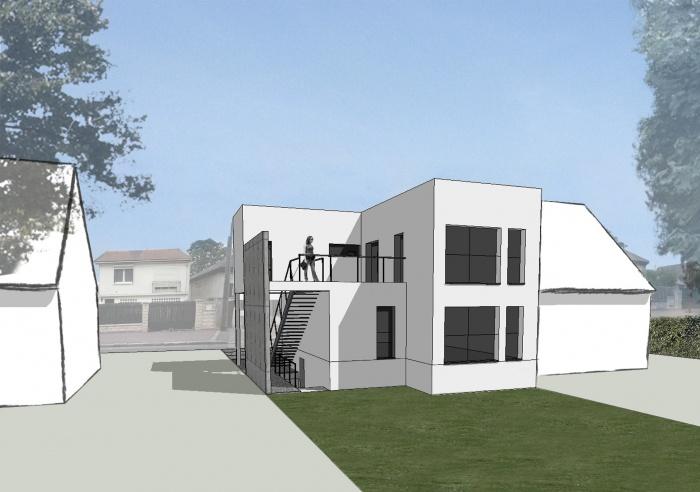 2 logements bâtiment contemporain