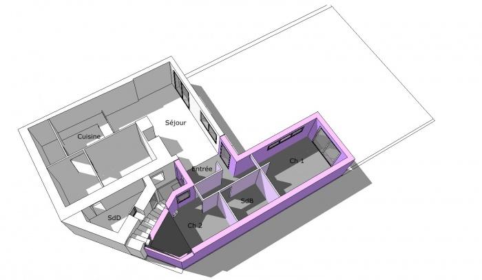 Extension logement : vue int archifrance