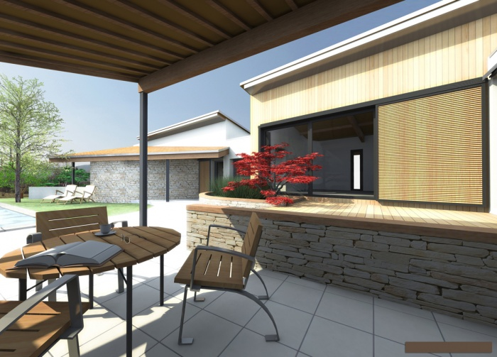 Villa S - le patio ouvert