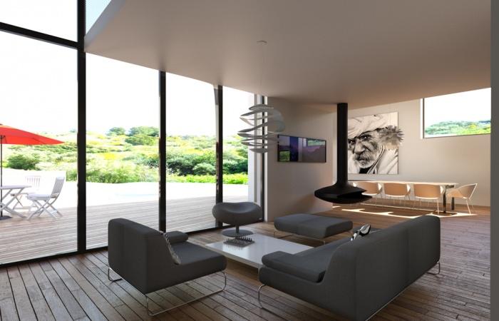 Maison contemporaine 3 n mes for Maison contemporaine 150m2