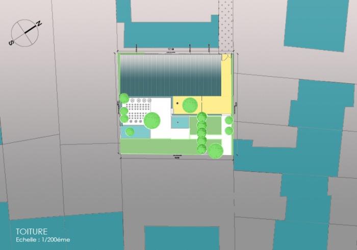 Surélevation d'une maison à usage d'habitation : 2 PL mas