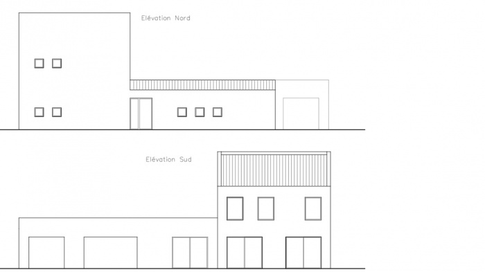 Création d'une Maison Contemporaine Provençale : villa.contemporaine.elevation2.jeremy.azzaro.architecte.png