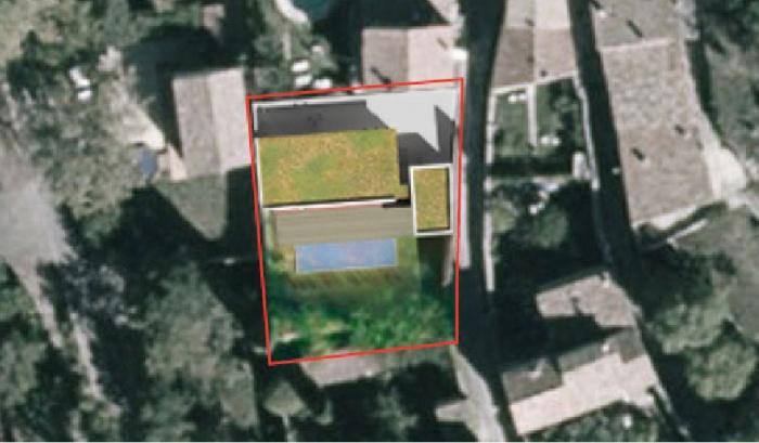 Création d'une maison contemporaine avec Atelier : planmassse-maison-contemporaine-ossature-bois-poutres-paca-jeremy-azzaro-architecte