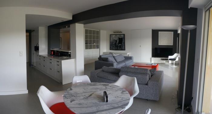 Association de deux appartement en un seul. Rénovation complète