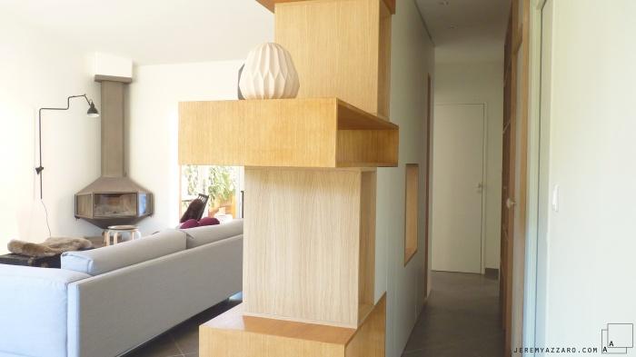 Aménagement Intérieur d'une villa  avec création de mobilier : amenagement-mobilier-passage-design-mobilier-good-design-store-marseille-jeremy-azzaro-architecte
