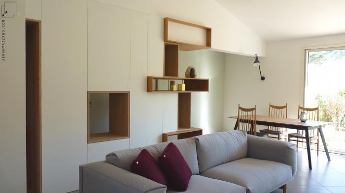 Aménagement Intérieur d'une villa  avec création de mobilier : amenagement-interiuer-villa-design-mobilier-salon-good-design-store-jeremy-azzaro-architecte