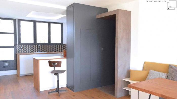 Rénovation et Réaménagement d'un appartement des années 70 : azzaro-architecte-reamenagement-restauration-renovation-appartement-marseille-archik