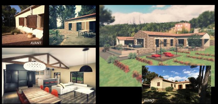 restructuration de villa