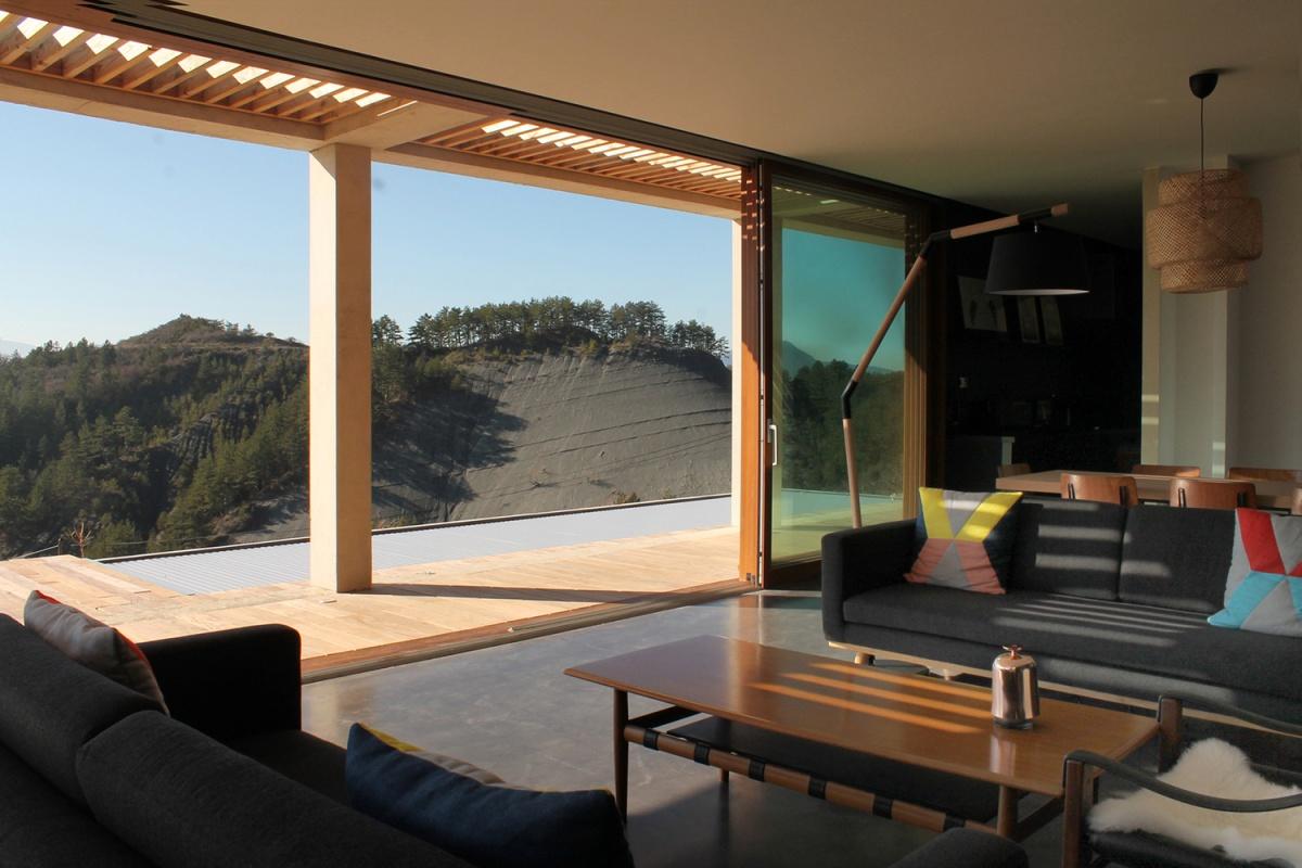 Maison de vacances béton et ossature bois
